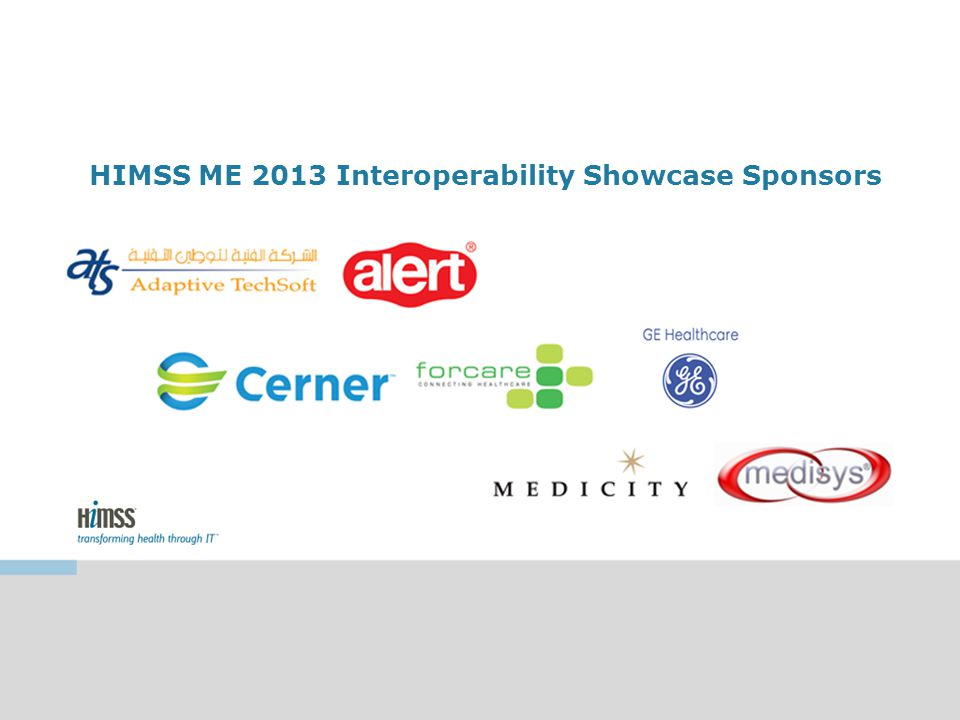 HIMSS ME 2013 Interoperability Showcase Sponsors