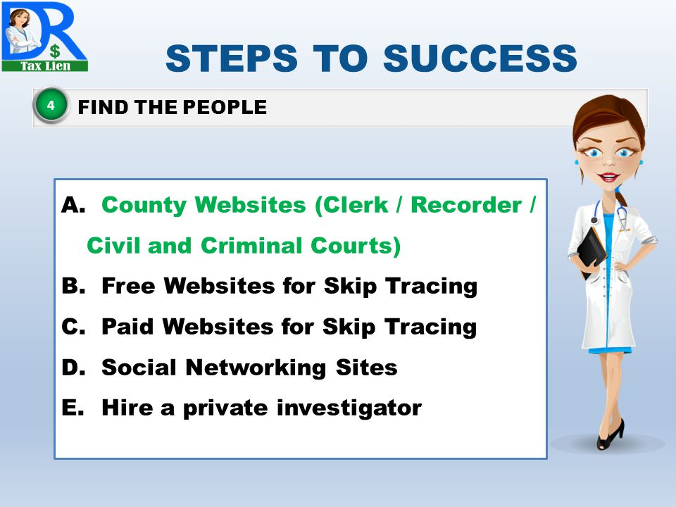 STEPS TO SUCCESS FIND THE PEOPLE 4 A.