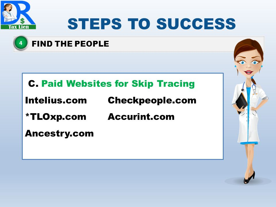 STEPS TO SUCCESS FIND THE PEOPLE 4 C.