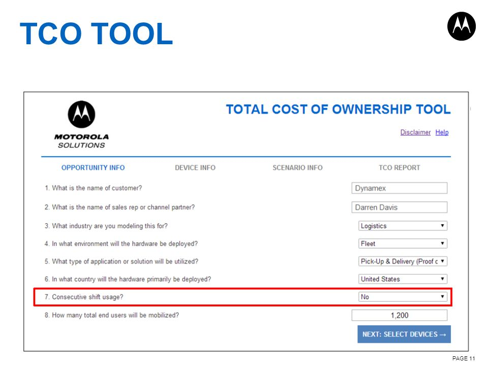TCO TOOL PAGE 11