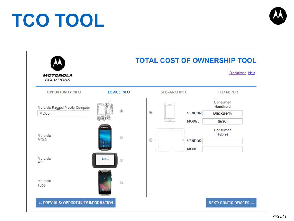PAGE 12 TCO TOOL