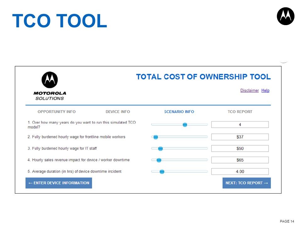 PAGE 14 TCO TOOL