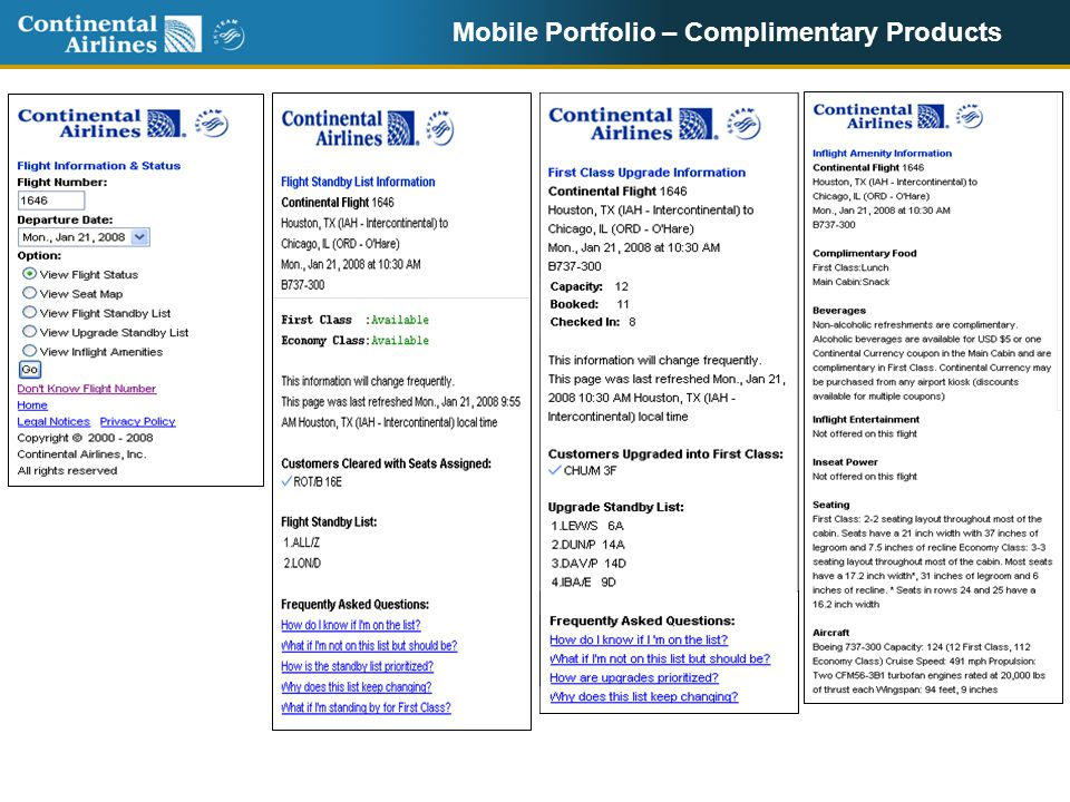 Mobile Portfolio – Complimentary Products