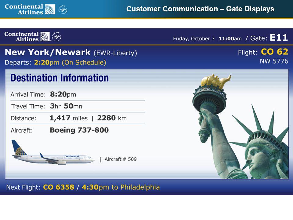 Customer Communication – Gate Displays