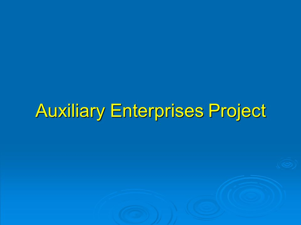 Auxiliary Enterprises Project