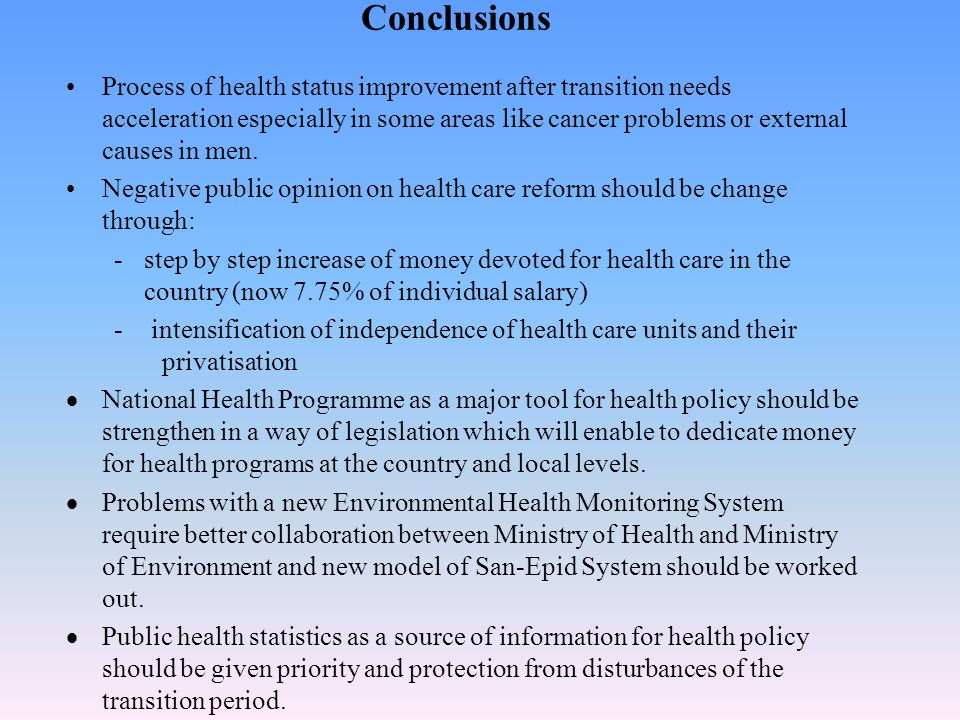 This Act can solve problems with organisation, financing and realisation of National Health Programme