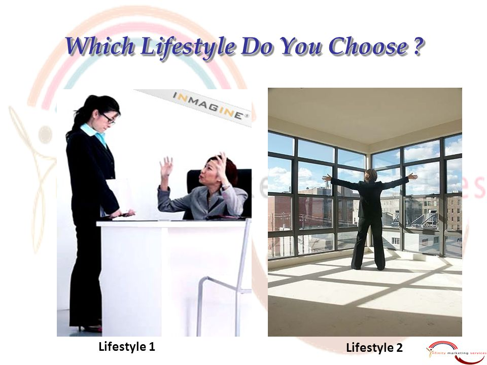 Which Lifestyle Do You Choose ? Lifestyle 1 Lifestyle 2