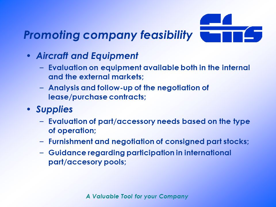 A Valuable Tool for your Company Supporting the company Providing services in several different areas: – Operations Company manuals/publications; Flight Safety; Flight Coordination; – Traffic Base policy; Airport structure/procedures; Airport services control; – Maintenance Aircraft documental analysis; Operational maintenance structure, manuals, etc.; Regular provision of services;
