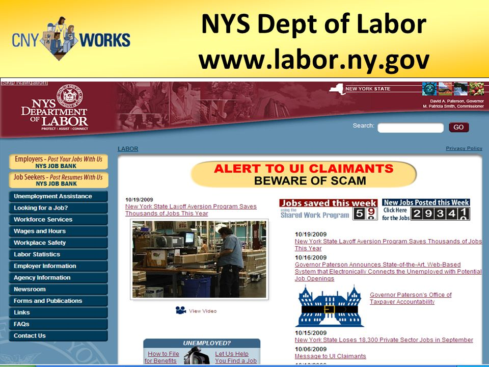 NYS Dept of Labor www.labor.ny.gov