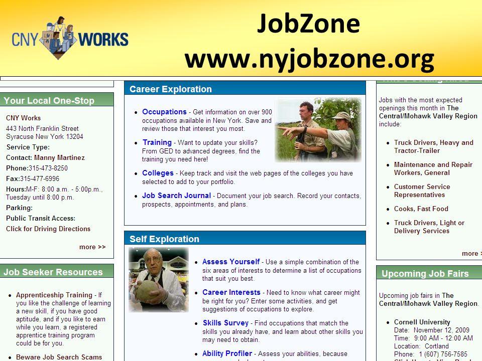 JobZone www.nyjobzone.org