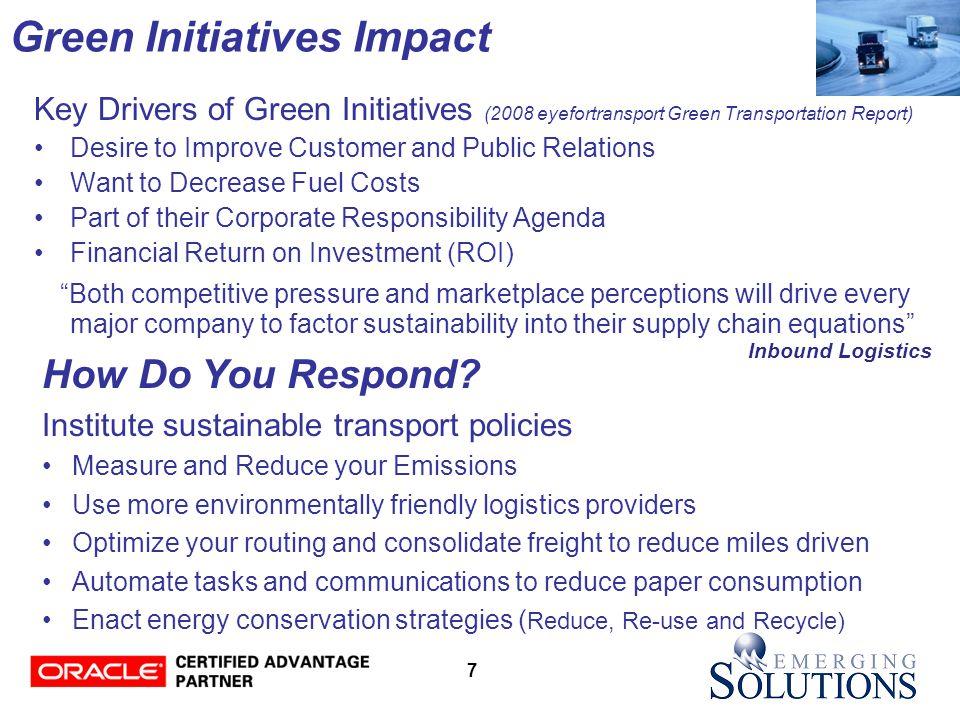7 Green Initiatives Impact How Do You Respond.