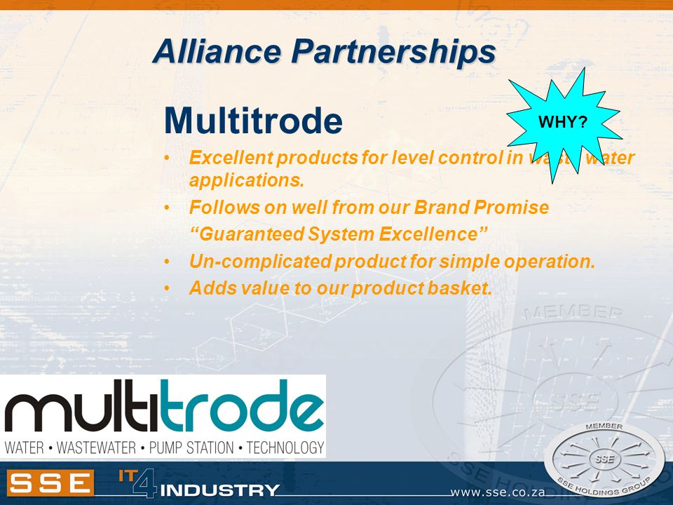 Multitrode Excellent products for level control in waste water applications.