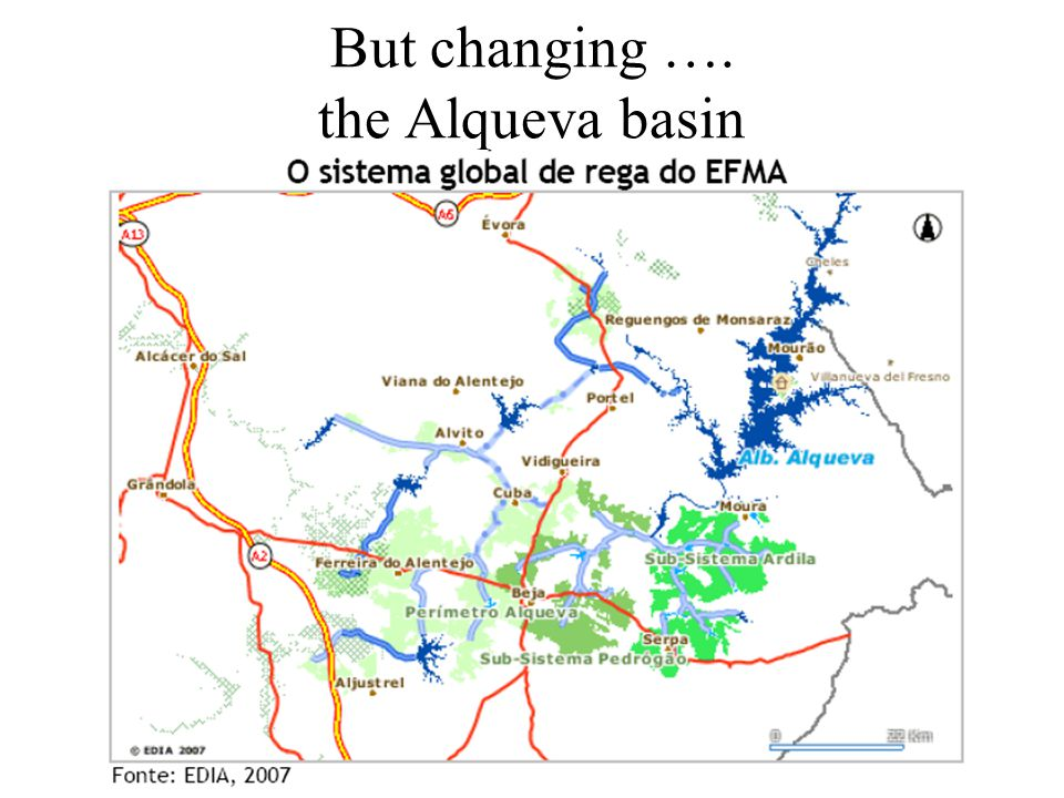 But changing …. the Alqueva basin