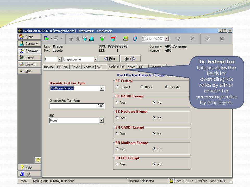 By accessing the Create Batch tab, working on payroll data can be accelerated as the software collects the data for the user to work with a spreadsheet format.
