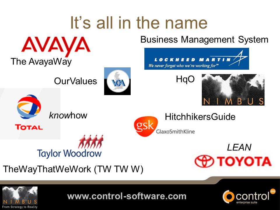 www.control-software.com Lockheed Martin : results