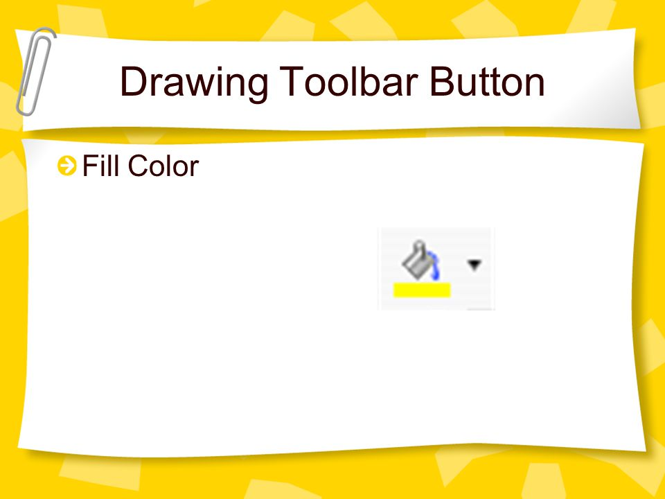 Drawing Toolbar Button Fill Color