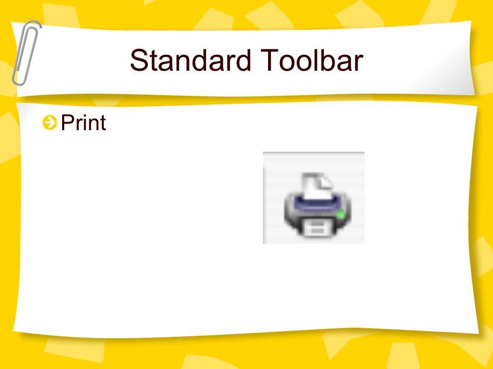 Standard Toolbar Print