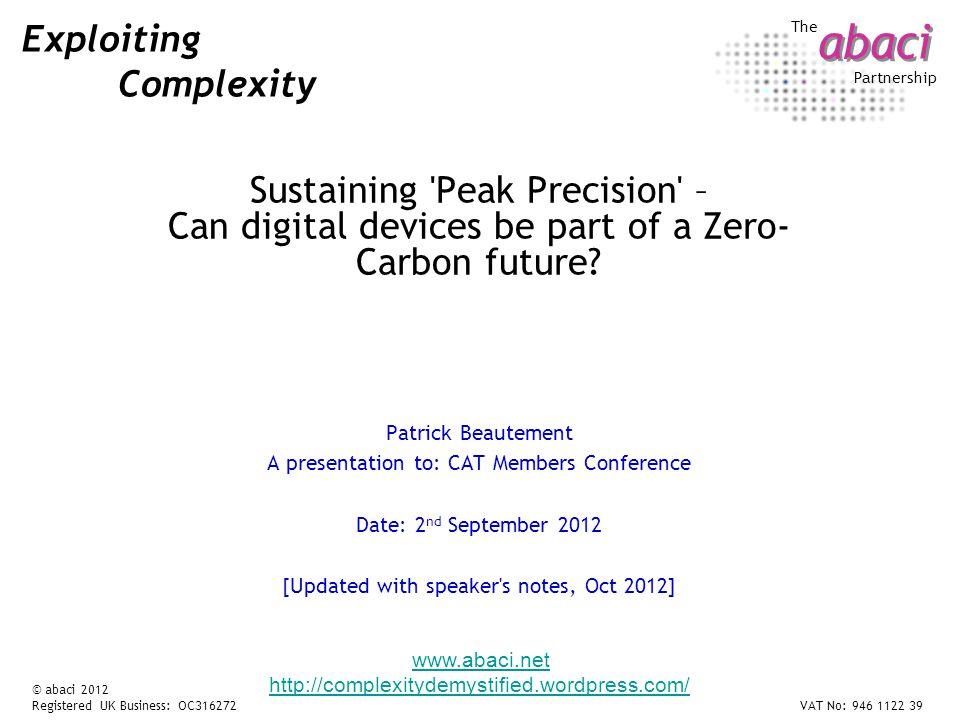 12 03 Sustaining Precision...