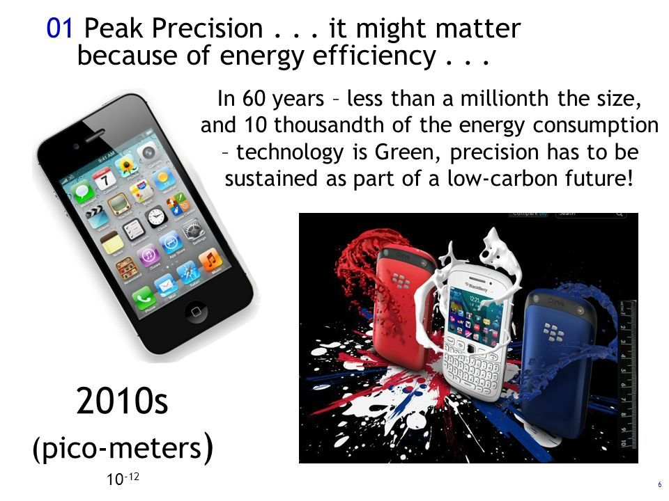 17 04 Precision – and wider utility What is the minimum viable level of precision needed for sustaining a Zero-Carbon future: – Of temporal and spatial precision: – for coordination and synchronisation (local and global).