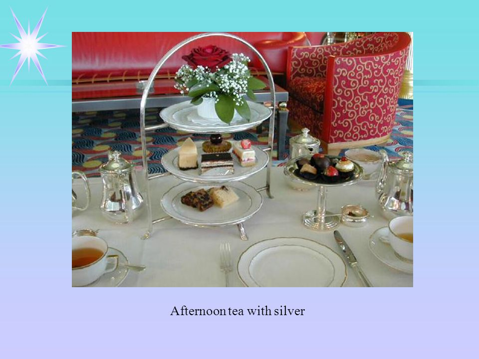 Afternoon tea with silver