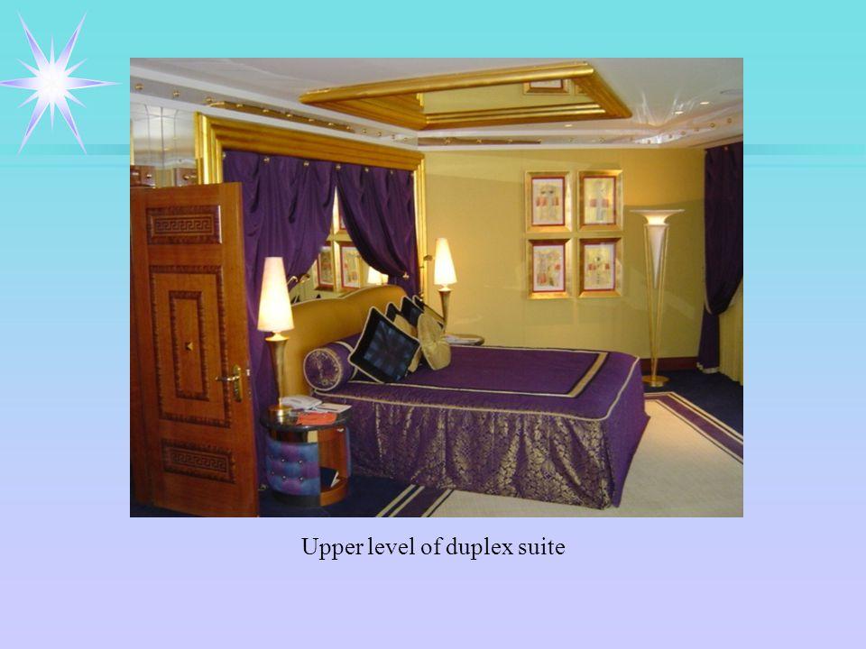 Upper level of duplex suite