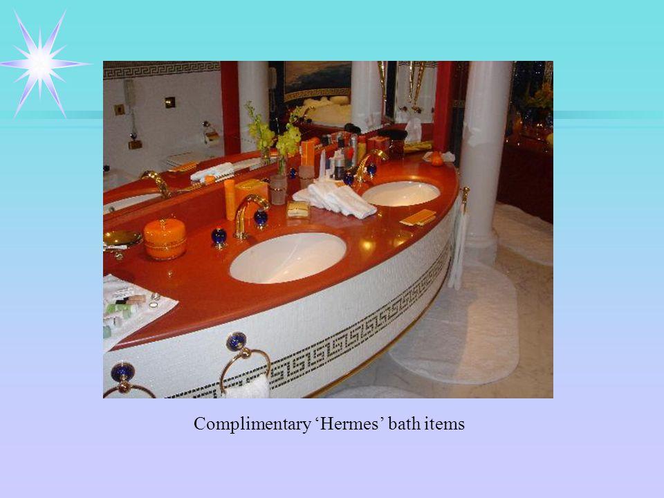 Complimentary 'Hermes' bath items