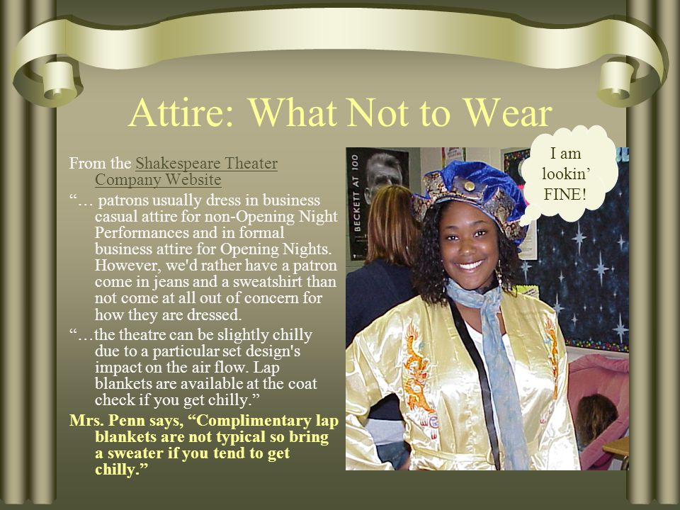 Golden Rules of Theatre Etiquette THE BIGGIES.