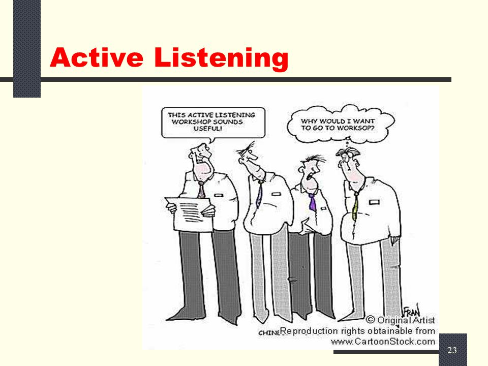22 Tools of Effective Communication  Active Listening  Focusing on Non-Verbal Communication