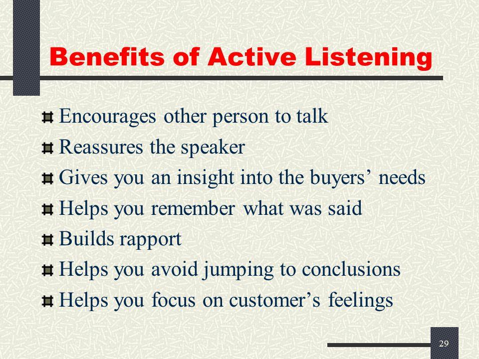 28 Pitfalls of Not Listening Misunderstandings False assumptions Misinterpretations