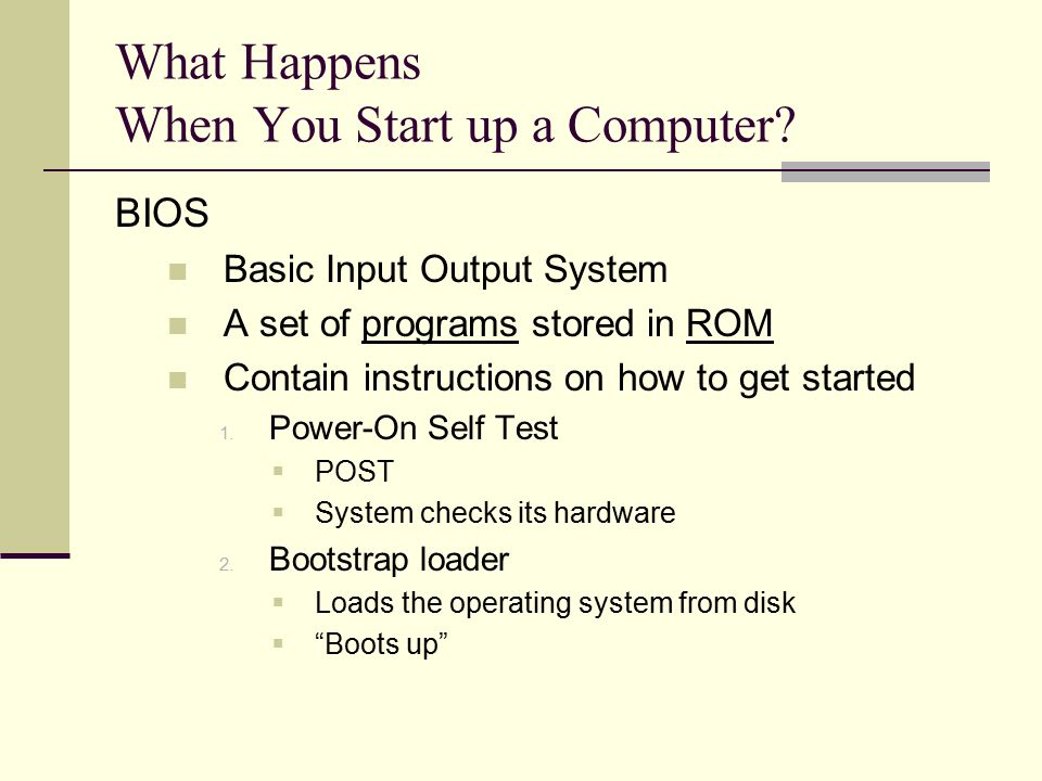 What Happens When You Start up a Computer.