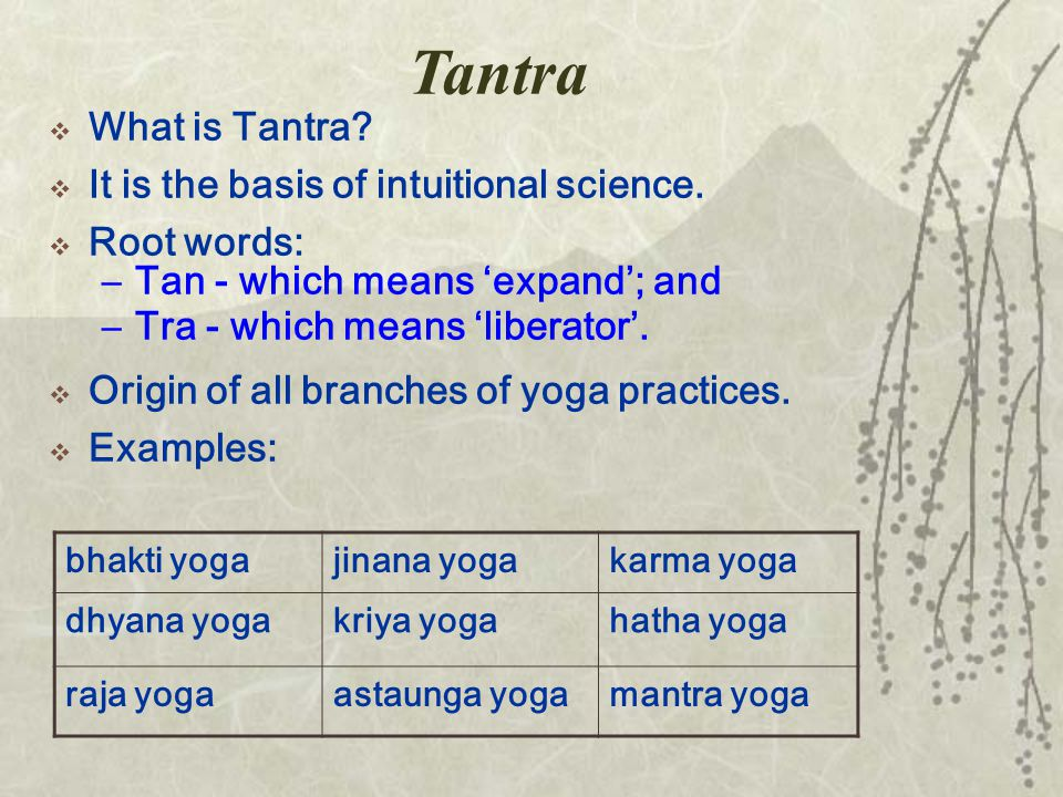 Tantra  What is Tantra.  It is the basis of intuitional science.