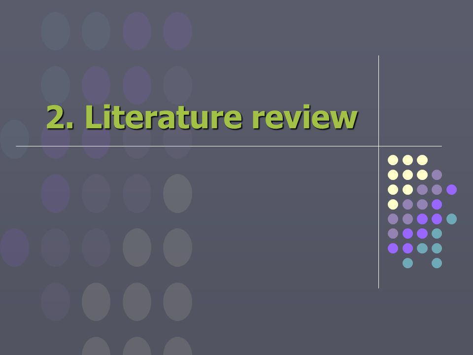 2. Literature review