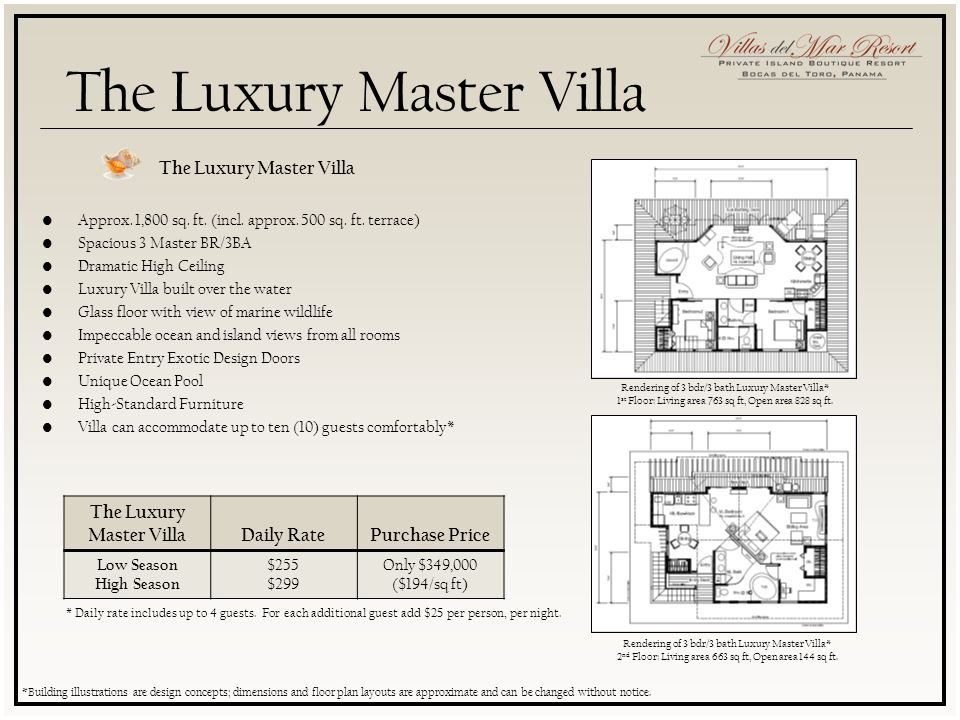 The Luxury Master Villa Approx. 1,800 sq. ft. (incl.
