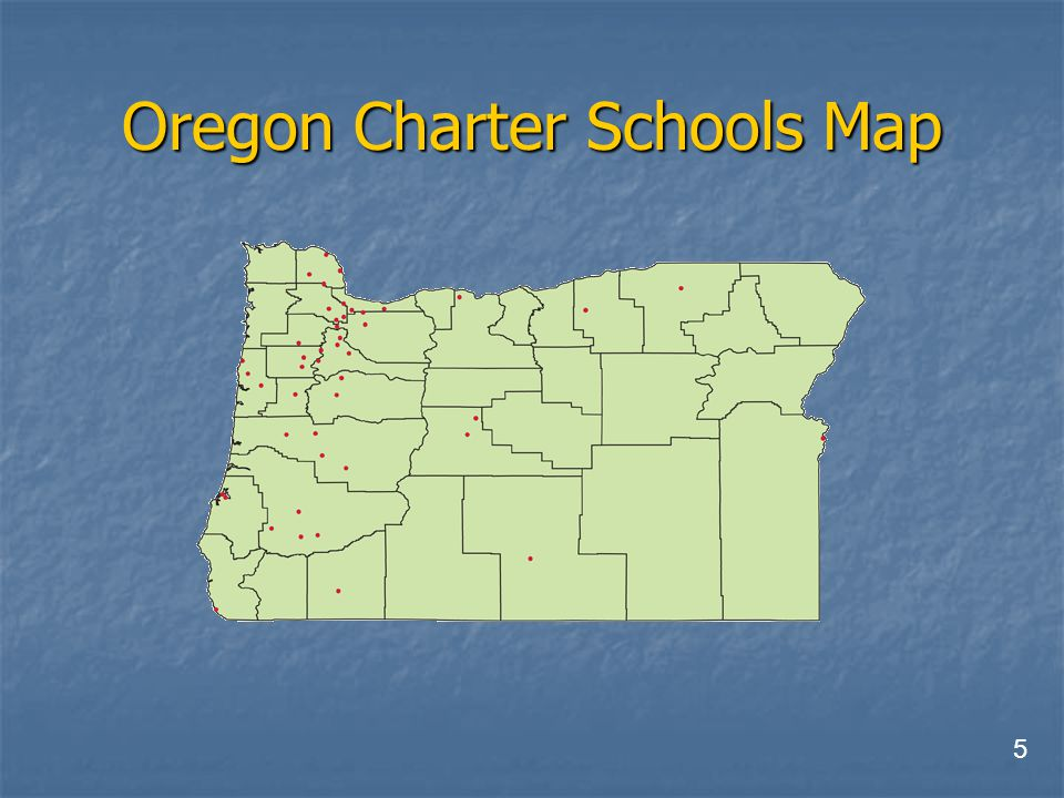 Oregon Charter Schools Map 5