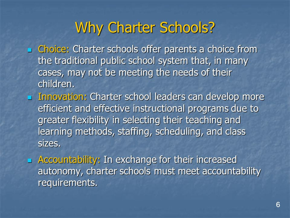 Why Charter Schools.
