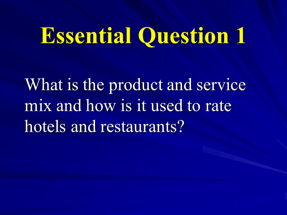 Restaurant Product and Service Management –Choosing Appealing Products: Basic Family Appeal: Familiar, good value, easy to take out, fun for family dining, generally appealing to all customers.
