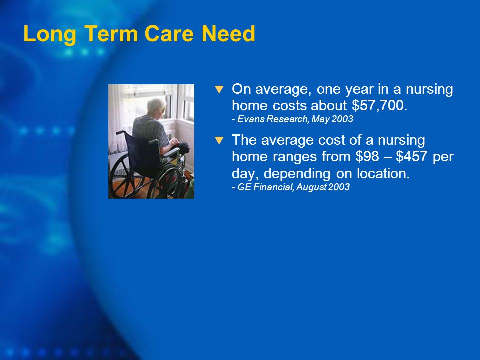  On average, one year in a nursing home costs about $57,700.