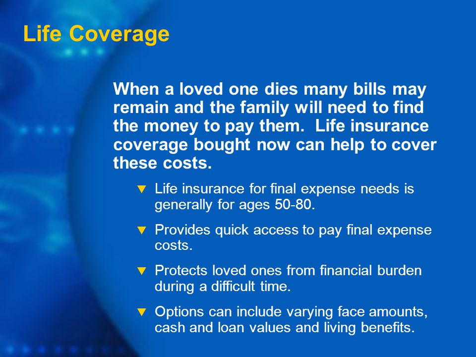 When a loved one dies many bills may remain and the family will need to find the money to pay them.