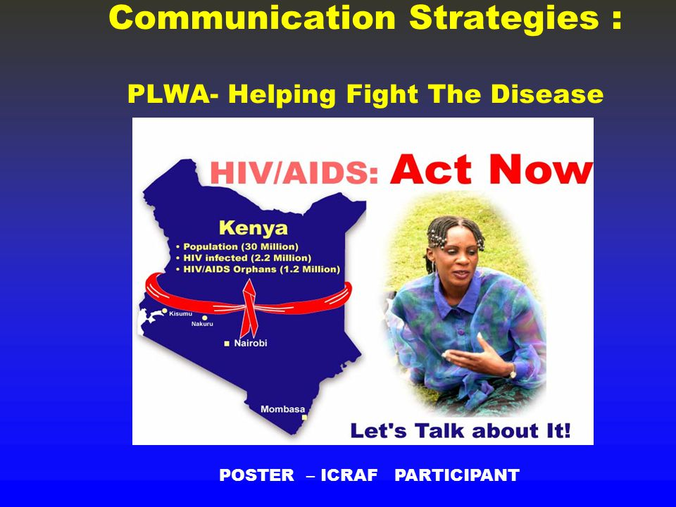 Communication Strategies : PLWA- Helping Fight The Disease POSTER – ICRAF PARTICIPANT