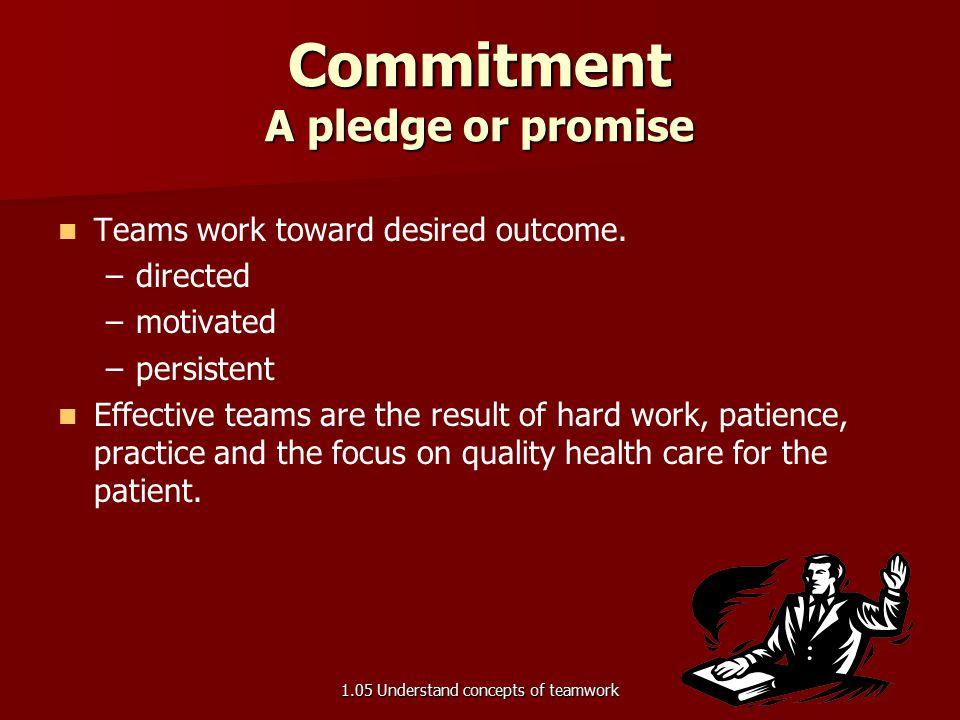Teams work toward desired outcome.