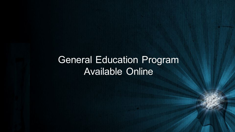 General Education Program Available Online