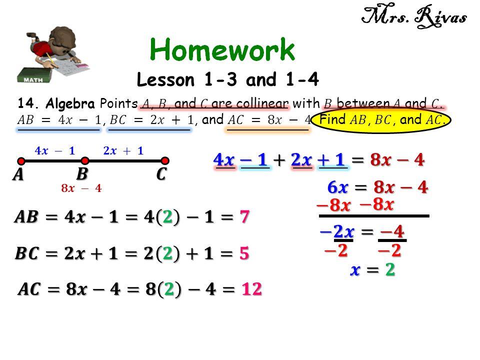 Mrs. Rivas Lesson 1-3 and 1-4