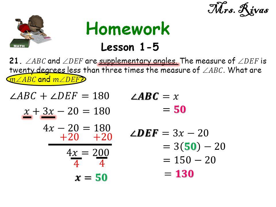 Mrs. Rivas Lesson 1-5