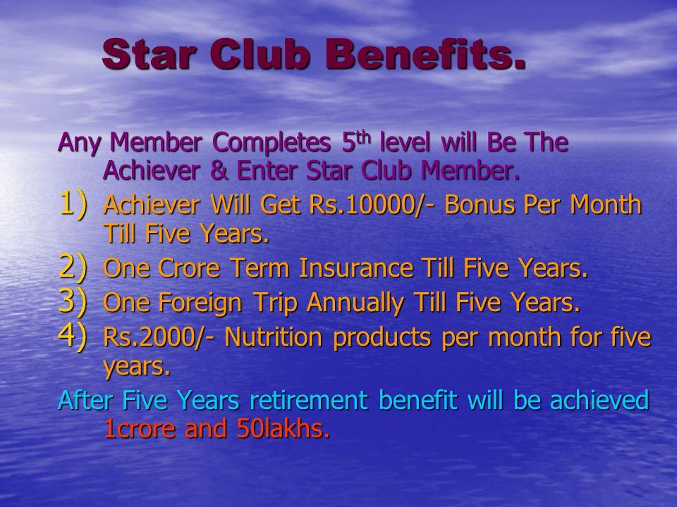 Star Club Benefits. Star Club Benefits.