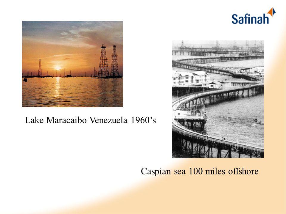 Lake Maracaibo Venezuela 1960's Caspian sea 100 miles offshore