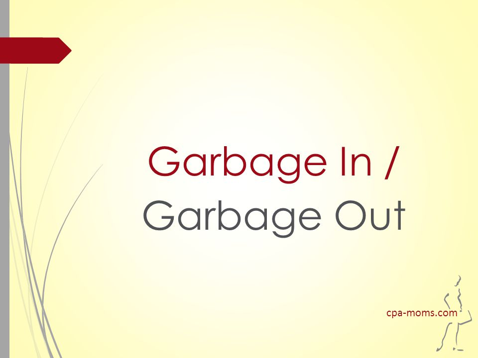 Garbage In / Garbage Out cpa-moms.com