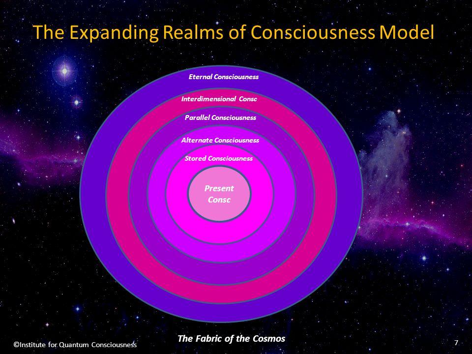 The Expanding Realms of Consciousness Model Present Consc Stored Consciousness The Fabric of the Cosmos Eternal Consciousness Interdimensional Consc P