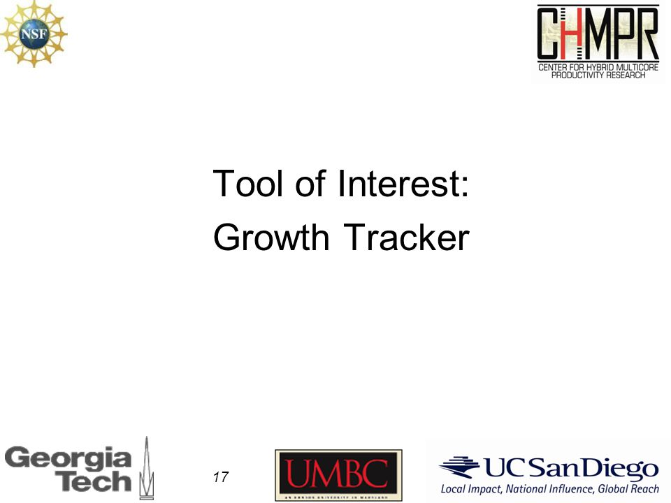 Tool of Interest: Growth Tracker 17