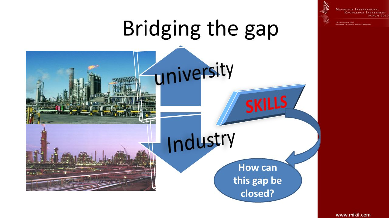 www.mikif.com Bridging the gap How can this gap be closed