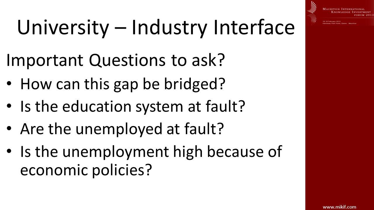 www.mikif.com University – Industry Qualifications Knowledge Skills Capabilities